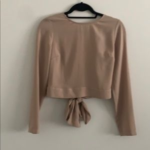 Forever 21 Long Sleeve Crop Top With Open Back